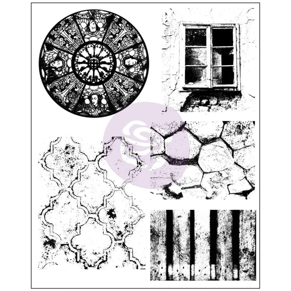 "Prima - Finnabair Cling Stamps 6""X7.5"" - Old Town"