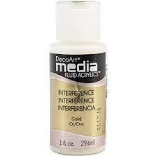 Deco Art Media Fluid Acrylic Paint 1oz - Gold (Series 5)