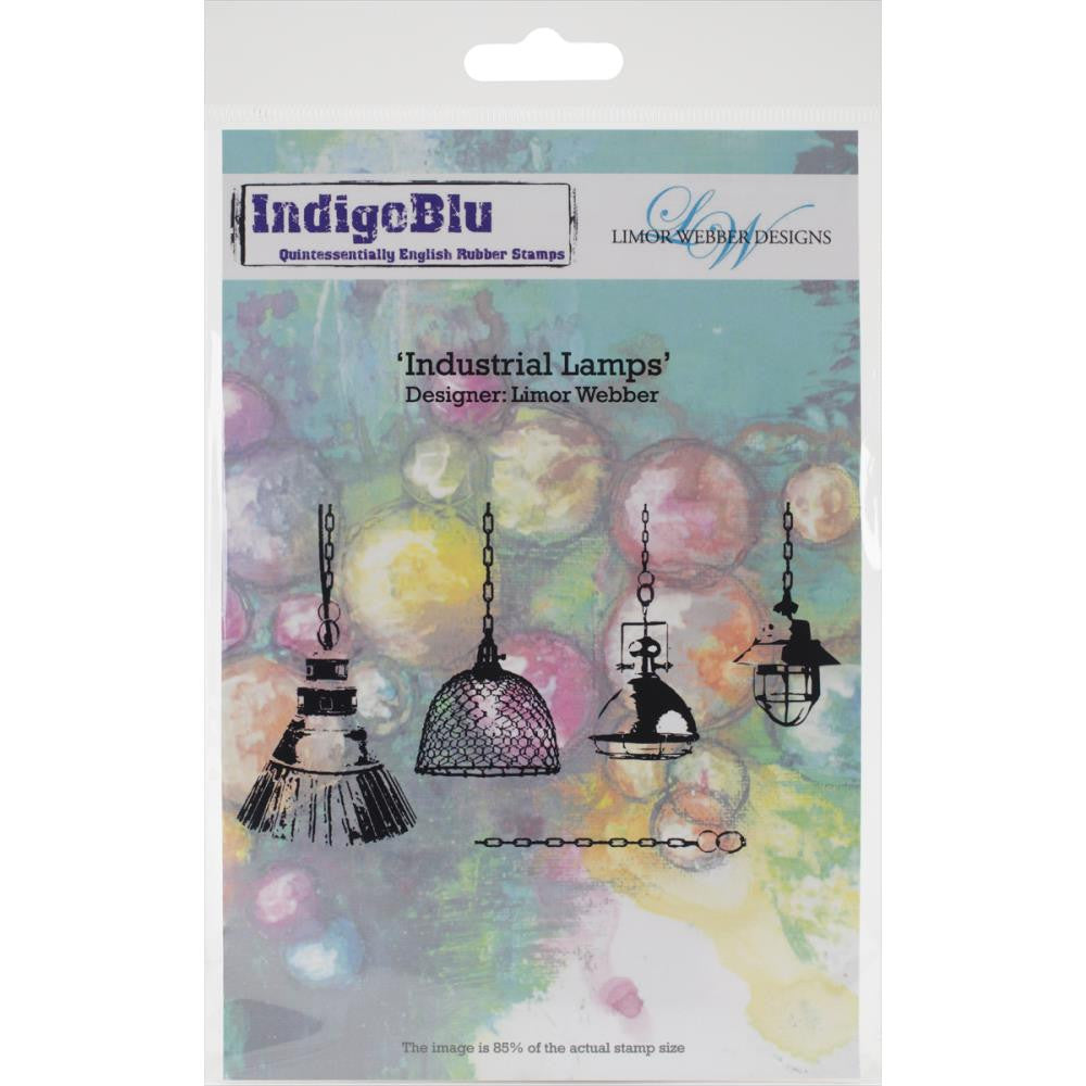 "IndigoBlu Cling Mounted Stamp 7.5"" x 5"" - Industrial Lamps by Limor Webber"