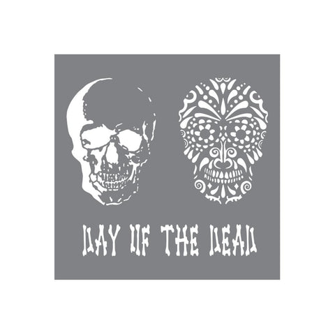 "Andy Skinner Mixed Media Stencil 8""X8"" - Day of the Dead"