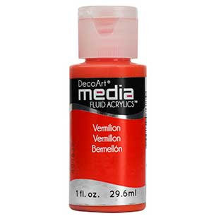 Deco Art Media Fluid Acrylic Paint 1oz - Vermillion