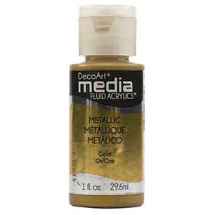 Deco Art Media Fluid Acrylic Paint 1oz - Gold (Series 2)