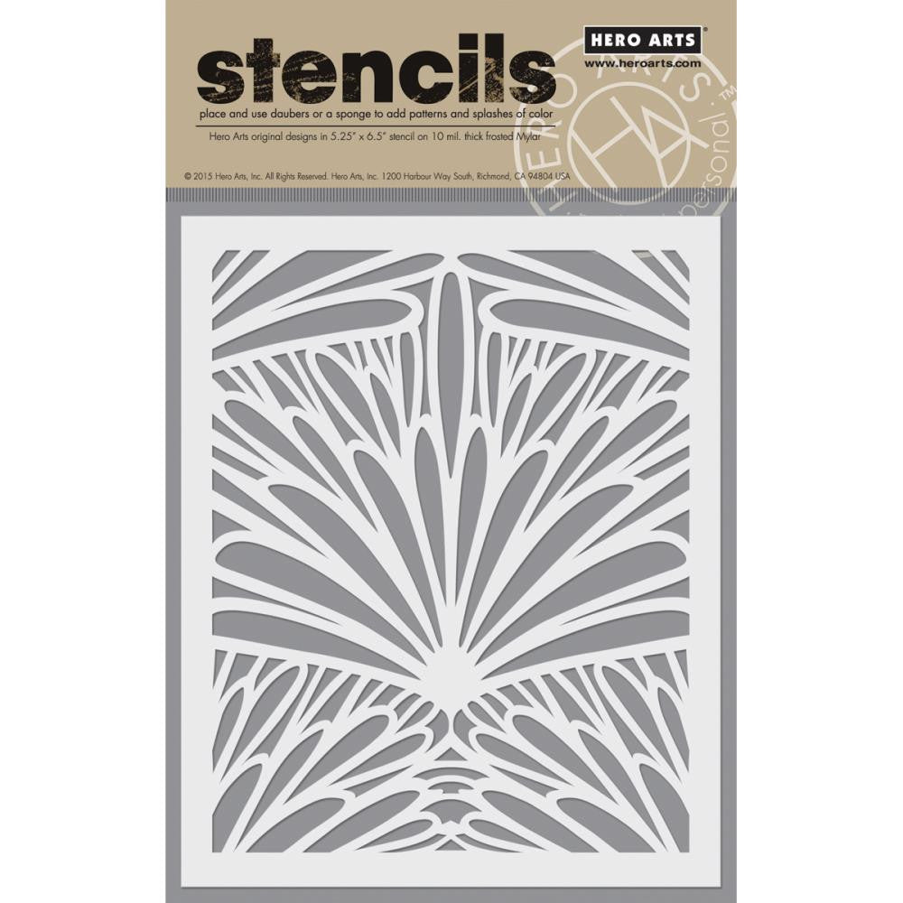 Basic Grey Vivienne Frosted Mylar Stencil By Hero Arts - Tropical Background