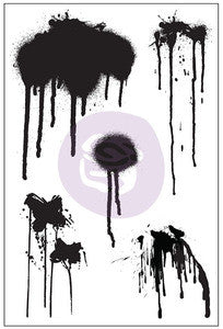 Prima - Paint Drips Cling Stamp