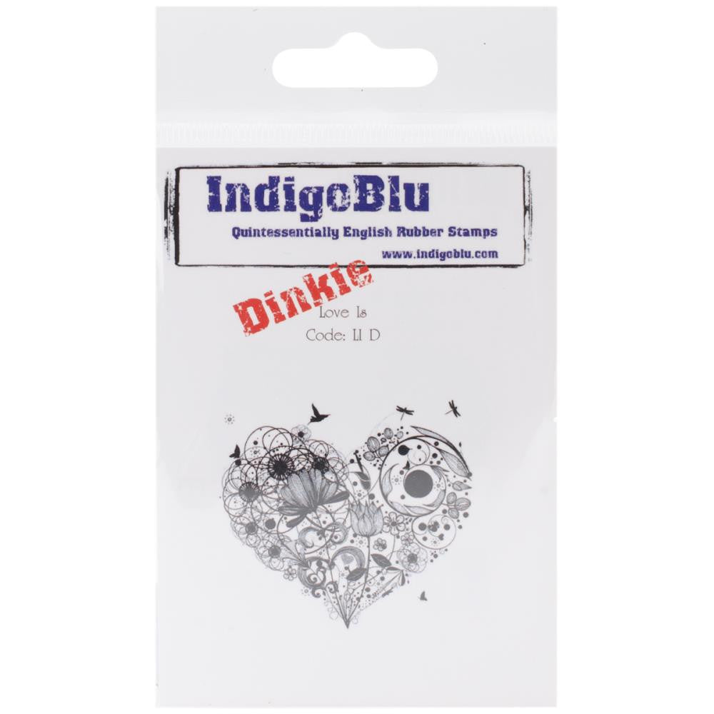 "IndigoBlu Cling Mounted Stamp 3""X3"" - Dinkie - Love Is"