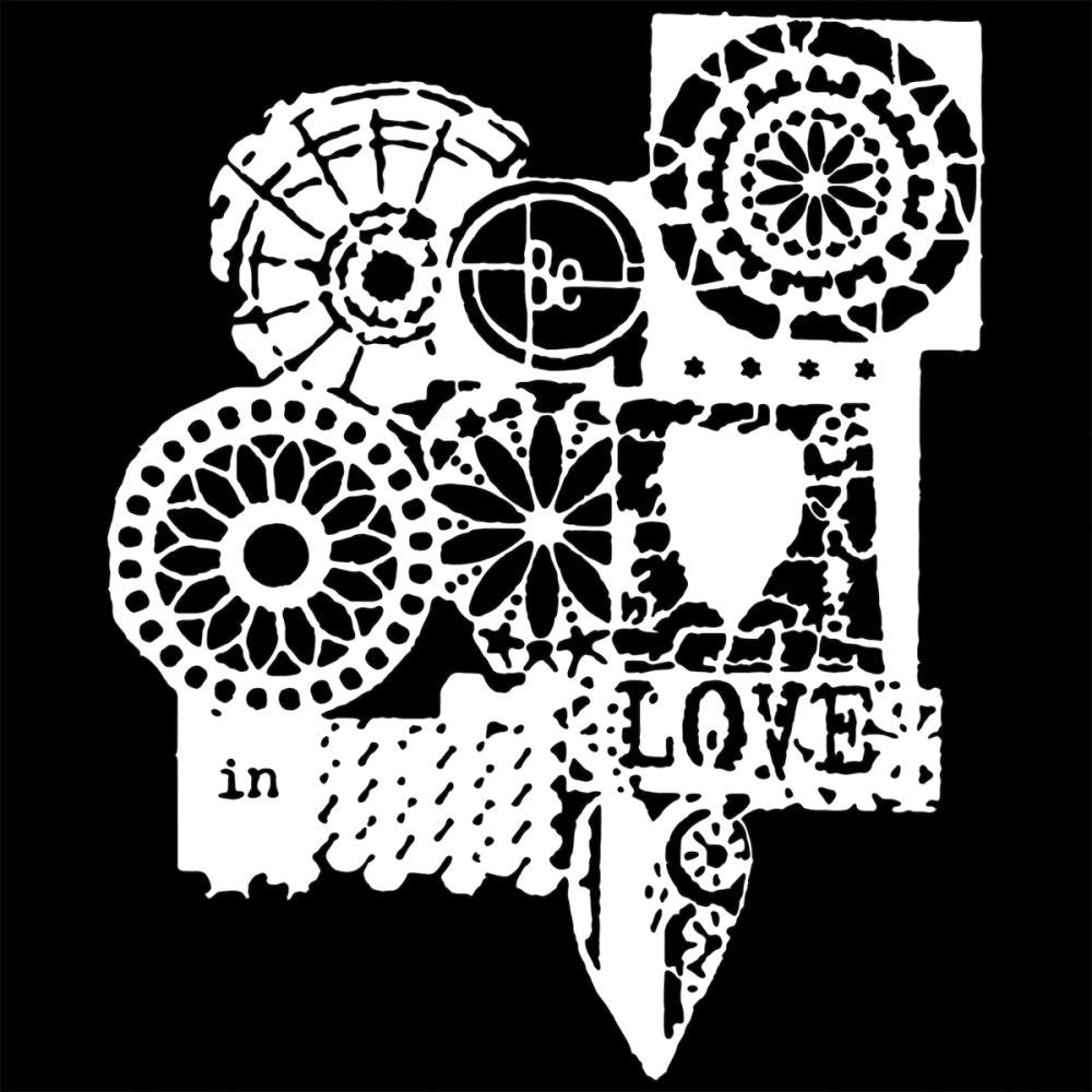 "TCW 6"" x 6"" Stencil - Rebekah Meier  - Mini Be in Love"