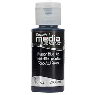 Deco Art Media Fluid Acrylic Paint 1oz - Prussian Blue Hue
