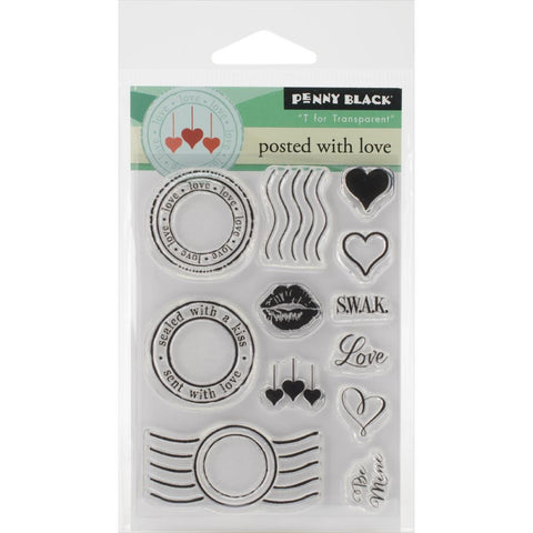 Penny Black Clear Stamps Sheet - Posted With Love