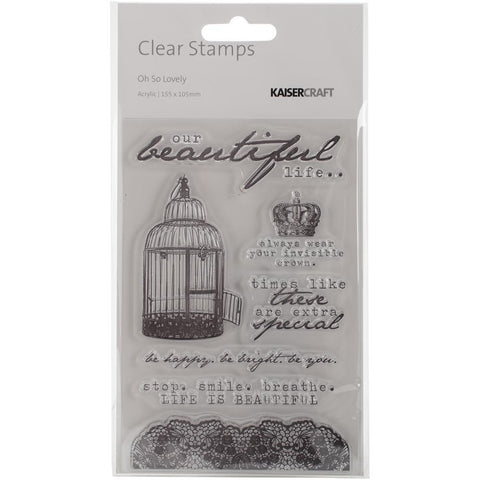 "Kaisercraft - Clear Stamps 6.25""X4"" - Oh So Lovely"