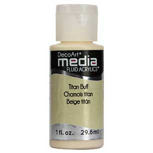 Deco Art Media Fluid Acrylic Paint 1oz - Titan Buff