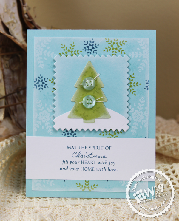 WPlus9 Design Studio - Pretty Patches Tree Die Set (Coordinates with Pretty Patches Tree Stamp Set)
