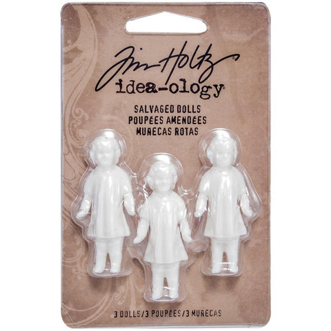 "Tim Holtz Idea-Ology - Salvaged Dolls 1.75"" 3/Pkg"