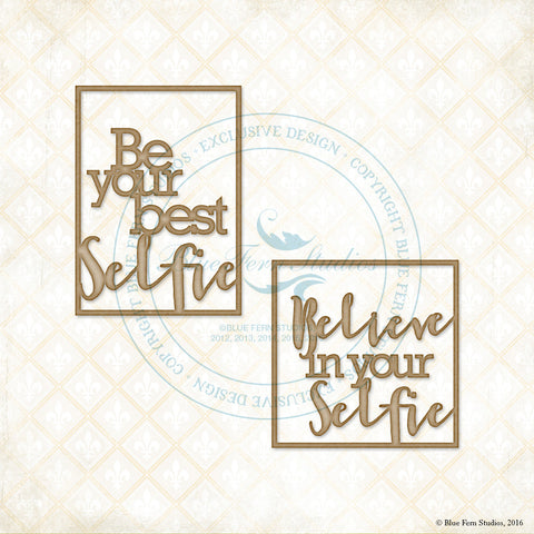 ***New Item*** Blue Fern Studios - Chipboard - Selfie Squares