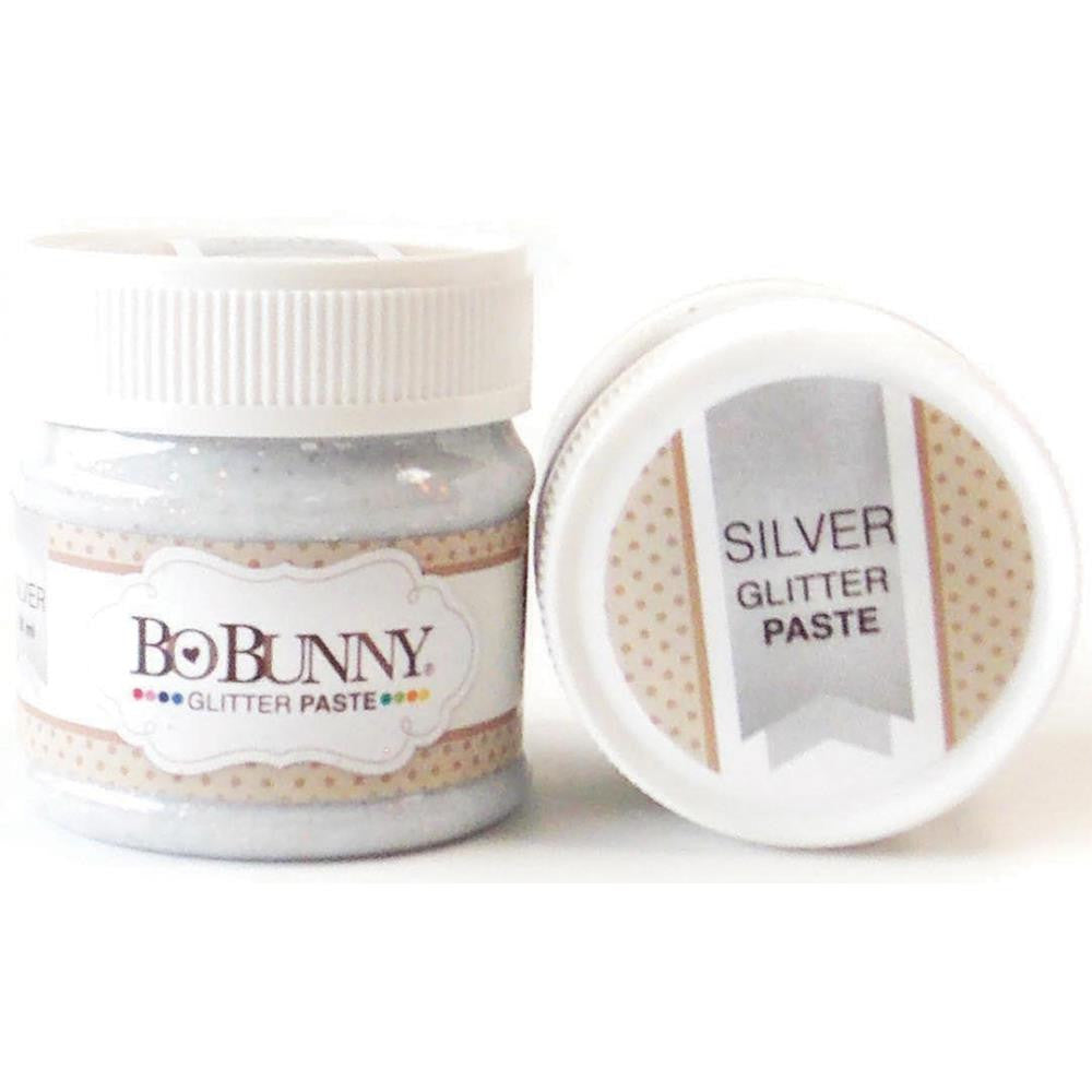 BoBunny Double Dot Glitter Paste - Silver