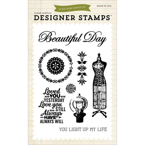 "Carta Bella Echo Park Stamp Set 4"" x 6"" - Yesterday"