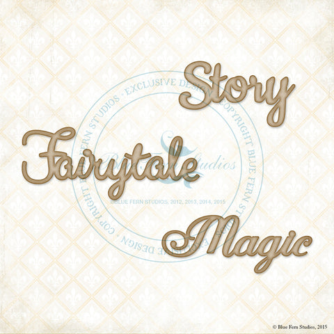***New Item*** Blue Fern Studios - Chipboard - Story, Fairytale, Magic