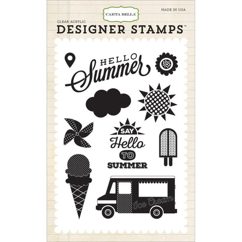 "Carta Bella Echo Park Soak Up The Sun Stamp Set - 4"" x 6"""