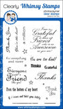 Whimsy Stamps - Photopolymer Clear Stamps - Thank You Friend
