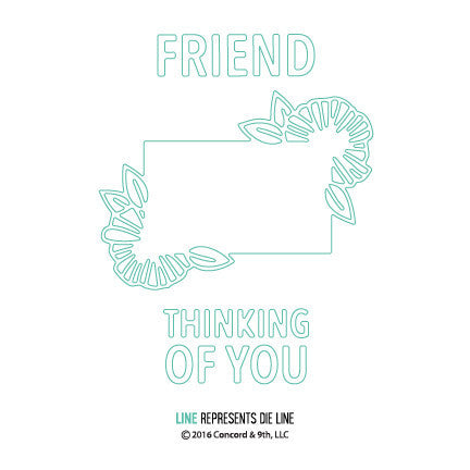 "Concord & 9th - 3 Piece Die Set - Thinking of You (coordinates with ""You're My Person"" Stamp Set)"