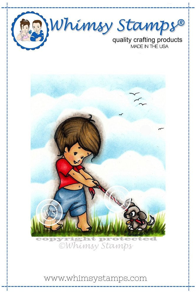 Whimsy Stamps - Cling Stamps - Tommy and Toby