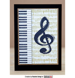 "Darkroom Door - Cling Stamps 3""x2"" - Treble Clef"