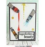 "Darkroom Door - Cling Stamps 3""x2"" - Paint Tubes"