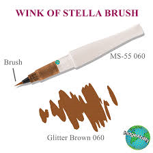 Zig Memory System Wink Of Stella Brush Glitter Marker (pkgd) - Brown