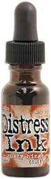 Ranger - Tim Holtz Distress Re-inker, Refills .05 oz bottle with dropper Rusty Hinge