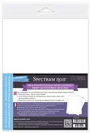 Crafters Companion Spectrum Noir (Alcohol Marker) Ultra Smooth Premium White Cardstock - 100 lb. 50/sheets
