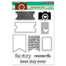 Penny Black Clear Stamp Sheet - Remember This