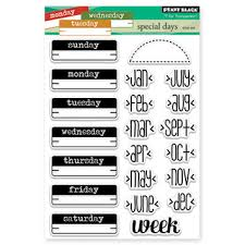 "Penny Black Cling Rubber Stamp 5"" x 6.5"" Sheet- Special Days"