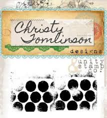 "Christy Tomlinson Cling Rubber Stamp 2.5""X5"" - Plump Polka Dots"