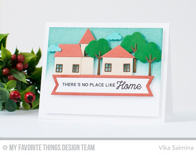 "My Favorite Things - 4""x8"" Clear Stamp Set - No Place Like Home"