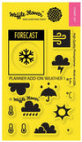 Waffle Flower - Stamp Set - Planner Add-on: Weather 1