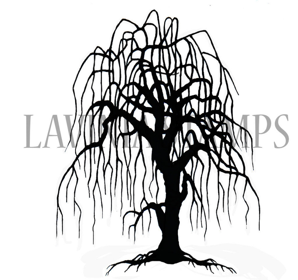 Lavinia Stamps - Landscape and Trees - Weeping Willow Tree