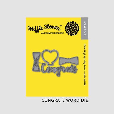 Waffle Flower - Congrats Word Die Set