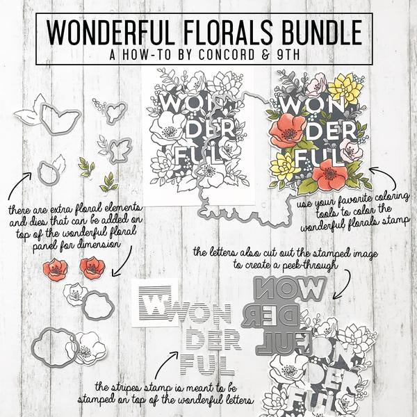 "Concord & 9th Clear Stamps 6""X6"" - Wonderful Florals"