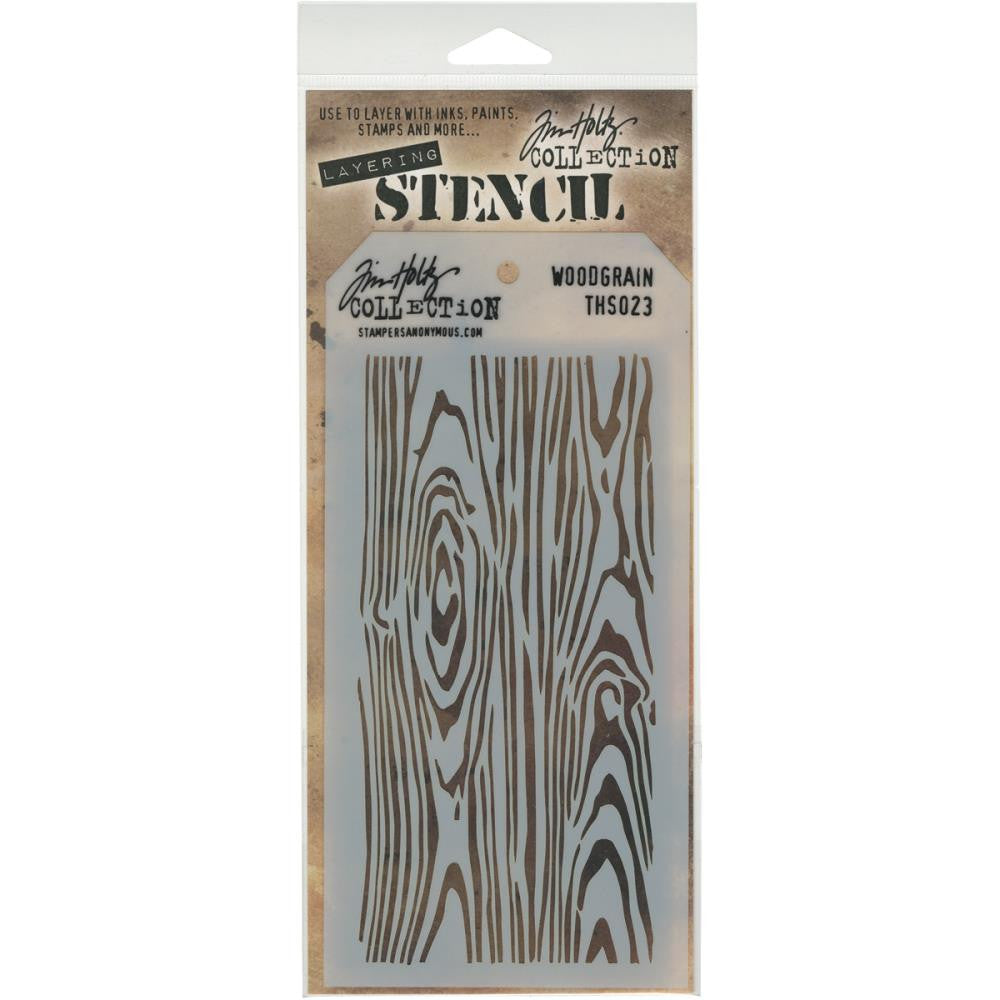 Stampers Anonymous - Tim Holtz - Layering Stencil - Woodgrain