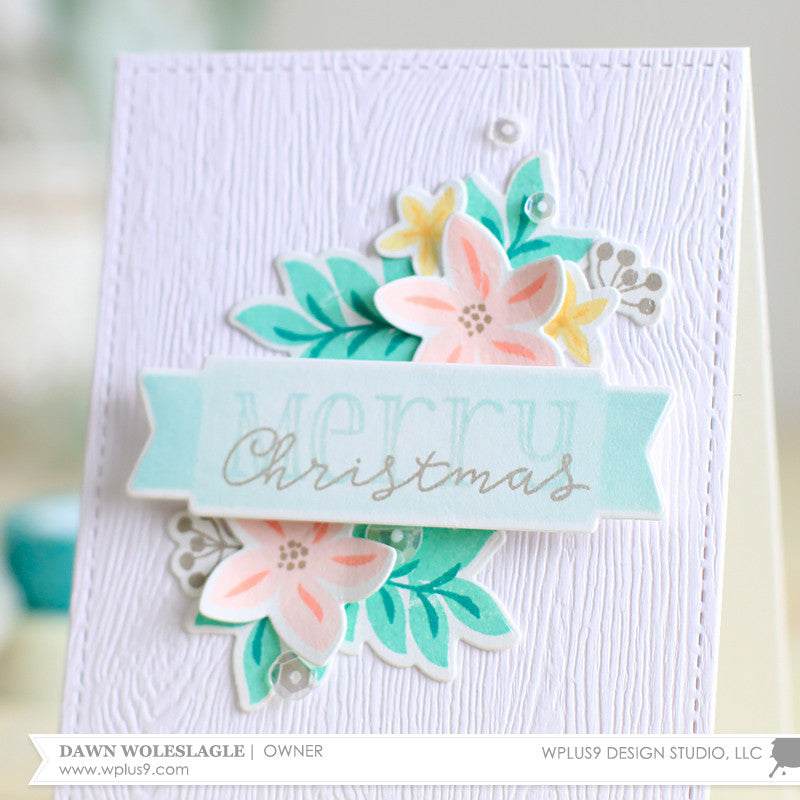 WPlus9 Design Studio - Be Merry Florals Die (coordinates with Be Merry Florals Stamp Set)