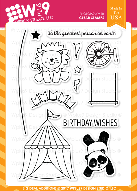 WPlus9 Design Studio - Stamp Set - Big Deal Additions