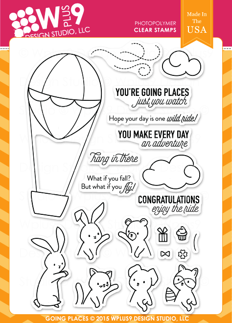 WPlus9 Design Studio -Going Places Stamp Set (Coordinates with Going Places Die Set)