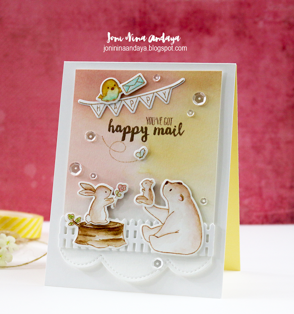 WPlus9 Design Studio - Happy Mail Die Set (Coordinates with Happy Mail Stamp Set)