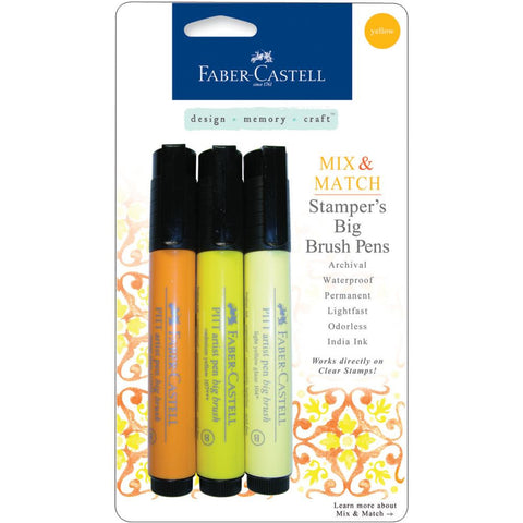 Faber-Castell Mix & Match Stamper's PITT Big Brush Pen Set 3/Pkg - Yellow