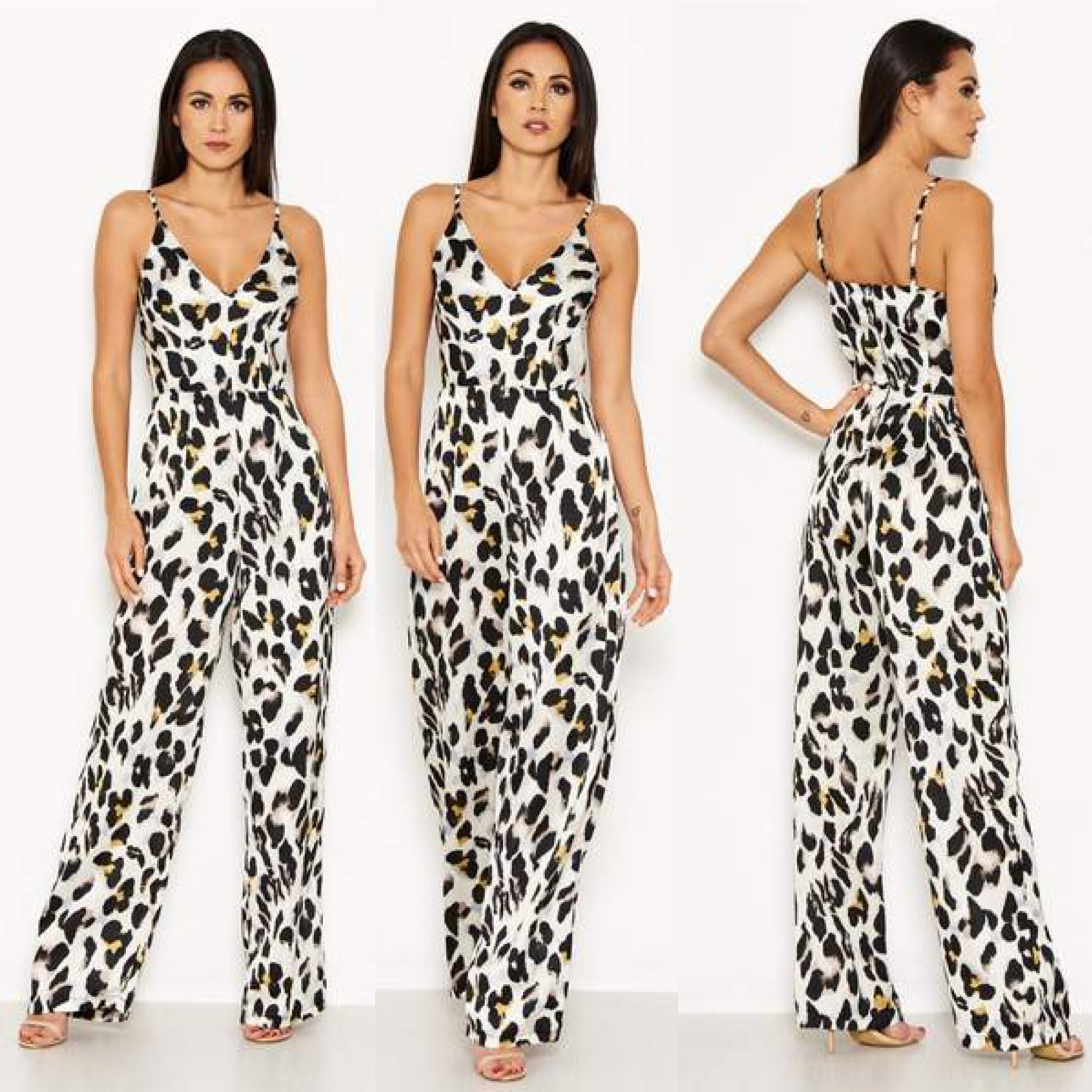 25Ten & Co Boutique Jumpsuits & Playsuits Animal V Neck Jumpsuit [product_tags] - 25Ten & Co Boutique