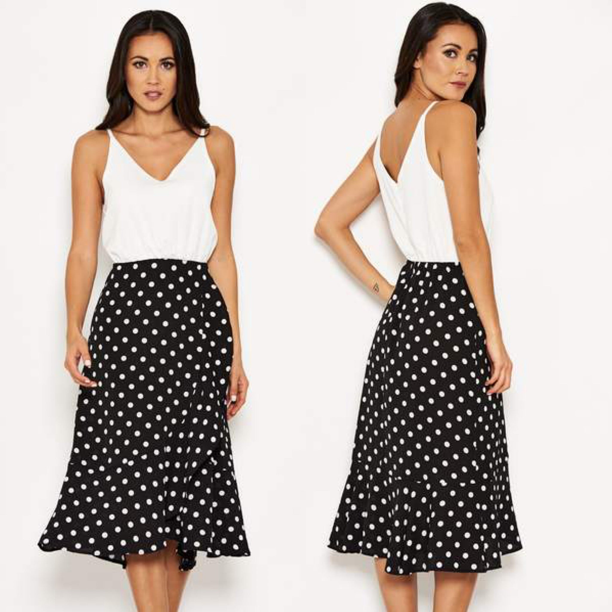 25Ten & Co Boutique Dresses 2 in 1 Polka Dot Cami Dress [product_tags] - 25Ten & Co Boutique