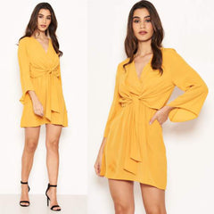 25Ten & Co Boutique Dresses Yellow Tie Dress [product_tags] - 25Ten & Co Boutique