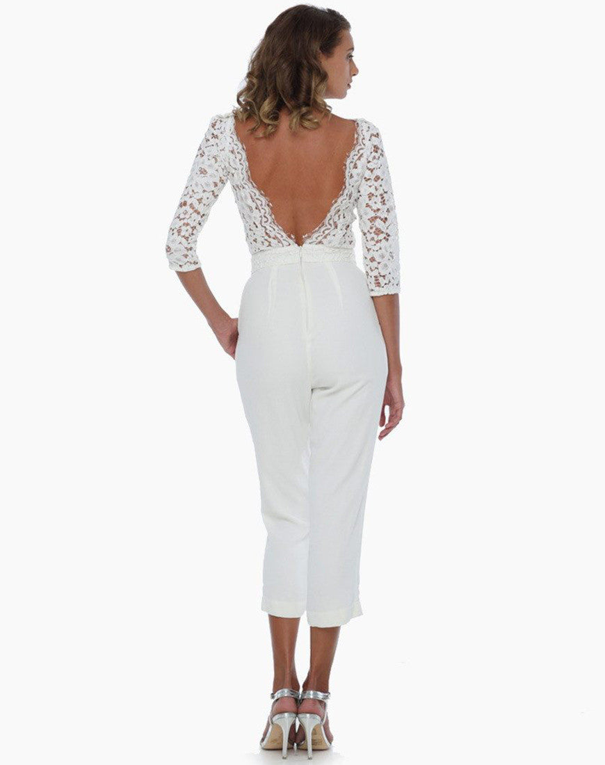 Miss Milne Jumpsuits & Playsuits Amed Lace Jumpsuit [product_tags] - 25Ten & Co Boutique