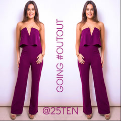25Ten & Co Boutique Jumpsuits & Playsuits Grape Bandeau Jumpsuit [product_tags] - 25Ten & Co Boutique