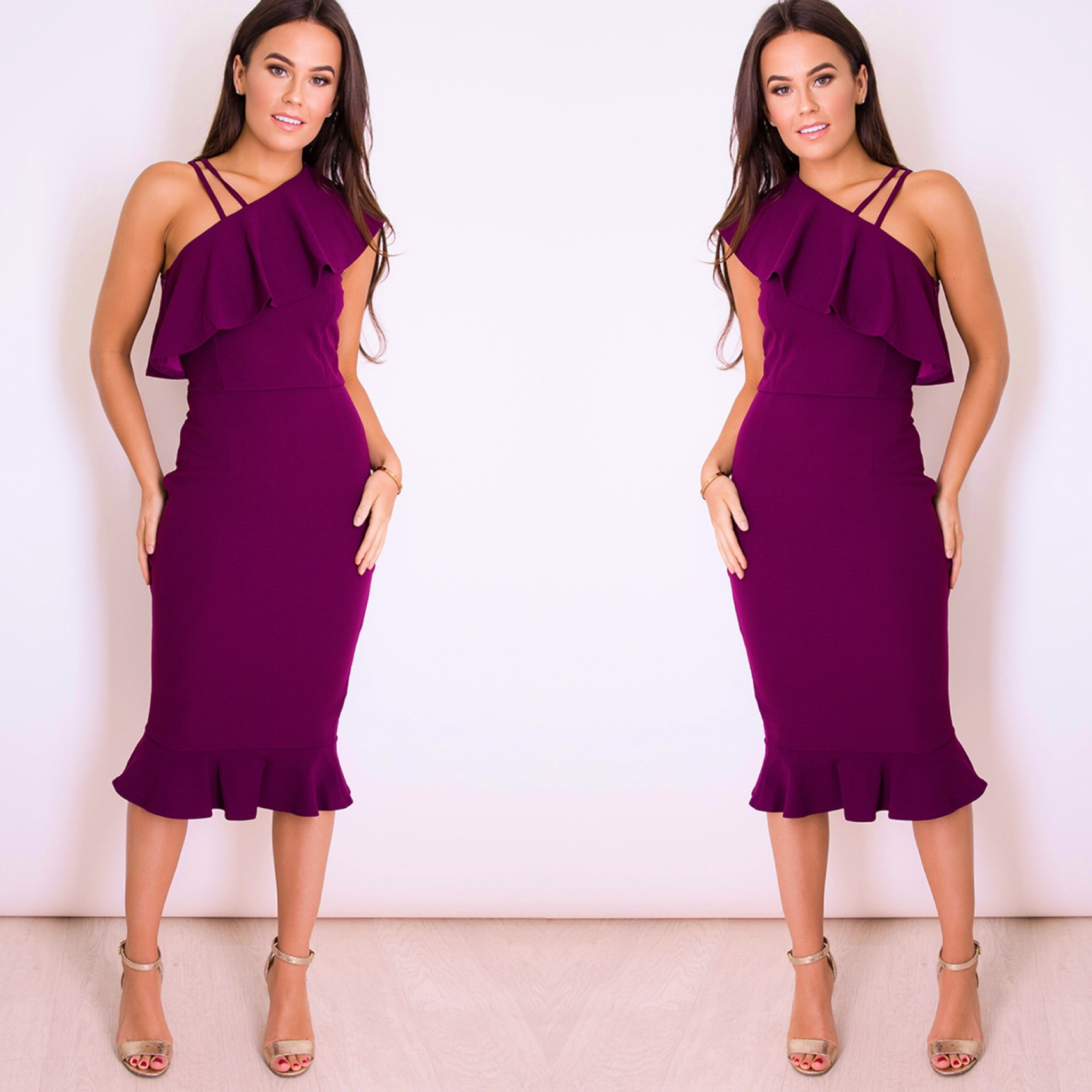 25Ten & Co Boutique Dresses Grape One Shoulder Dress [product_tags] - 25Ten & Co Boutique