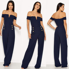 25Ten & Co Boutique Jumpsuits & Playsuits Navy Military Jumpsuit [product_tags] - 25Ten & Co Boutique